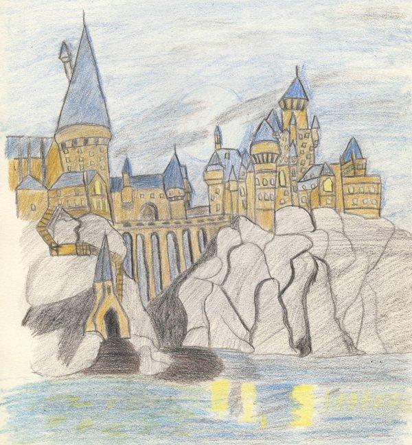 600x649 Hogwarts Castle By Angel Gui