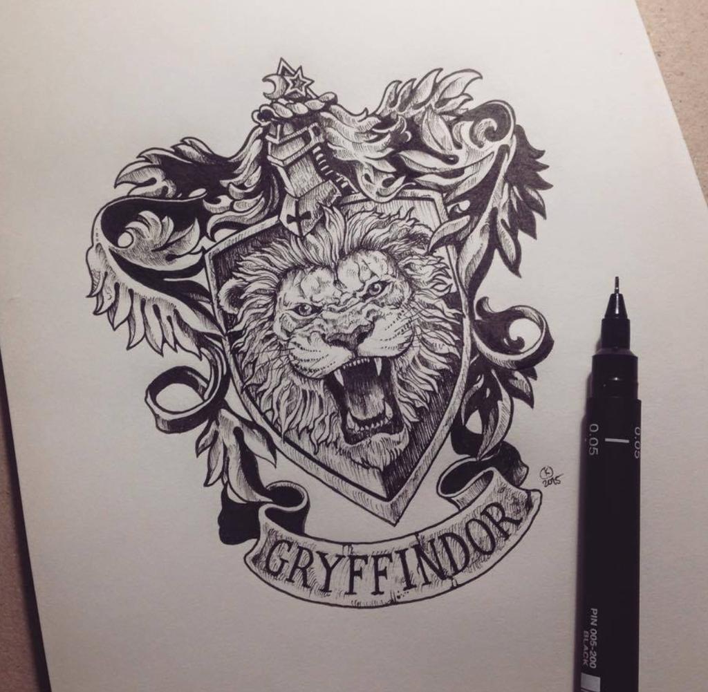 1024x1001 Gryffindor Crest Tattoo Tattoosamppiercings Tattoo