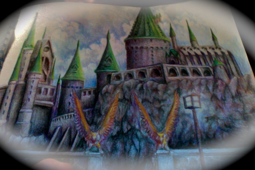1024x683 Hogwarts Castle In Colored Pencil By Whativeheardb4