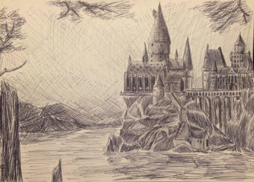 1024x734 Hogwarts Pen Drawing