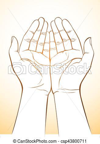 328x470 Hand Holding Position Vector Clip Art