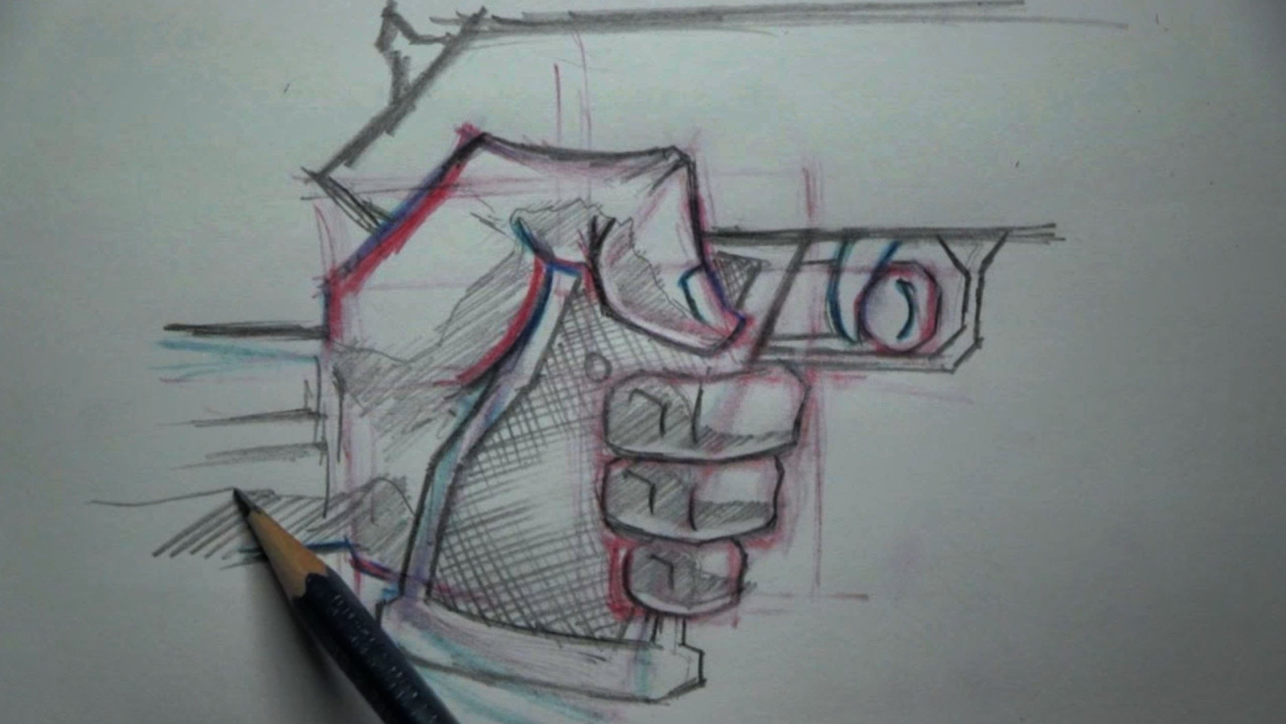 2560x1442 How To Draw Hand Holding A Gun