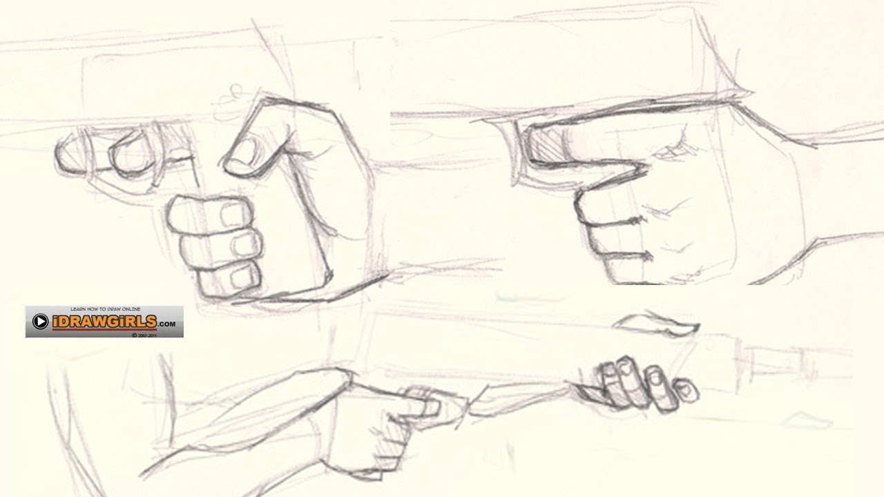 1280x720 How To Draw Hand Holding Gun