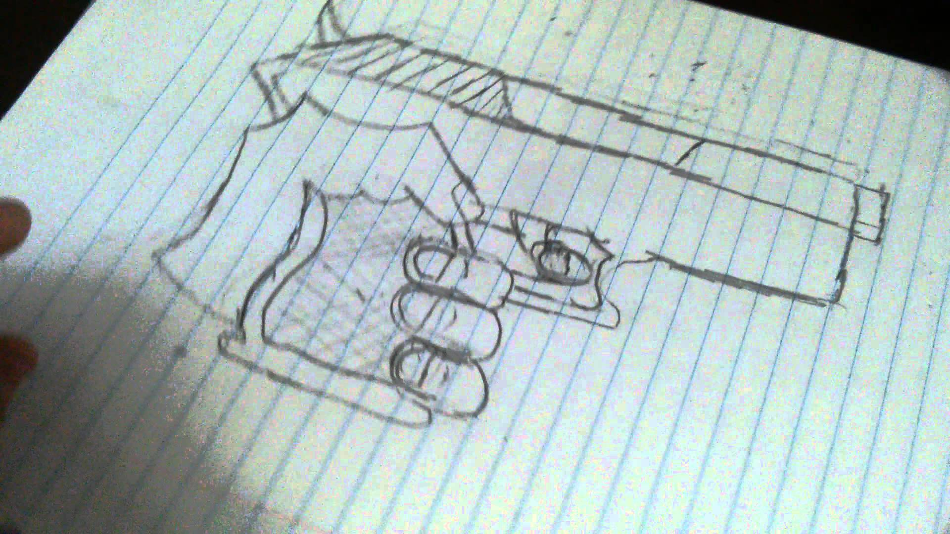 1920x1080 How To Draw Hand Holding Gun Part 2 And Thumbs Up.
