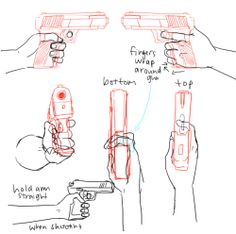236x234 Hand Right Gun1 Drawing People Hand Reference