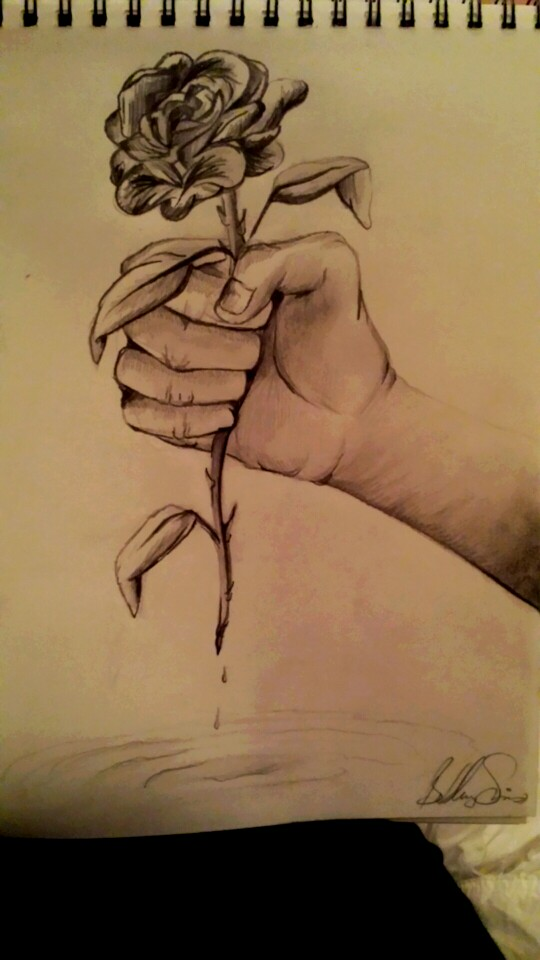 540x960 Hand Holding Rose Drawing My Works Drawing Ideas