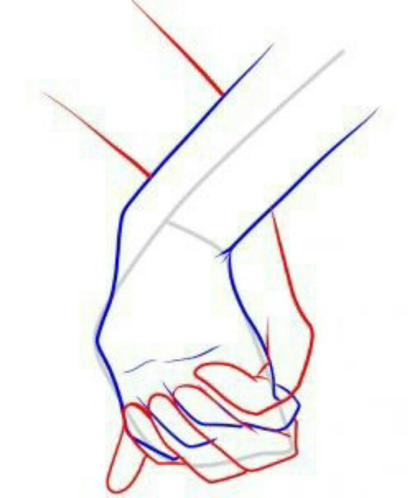 608x720 Step 12. How To Draw Holding Hands Drawing Holding
