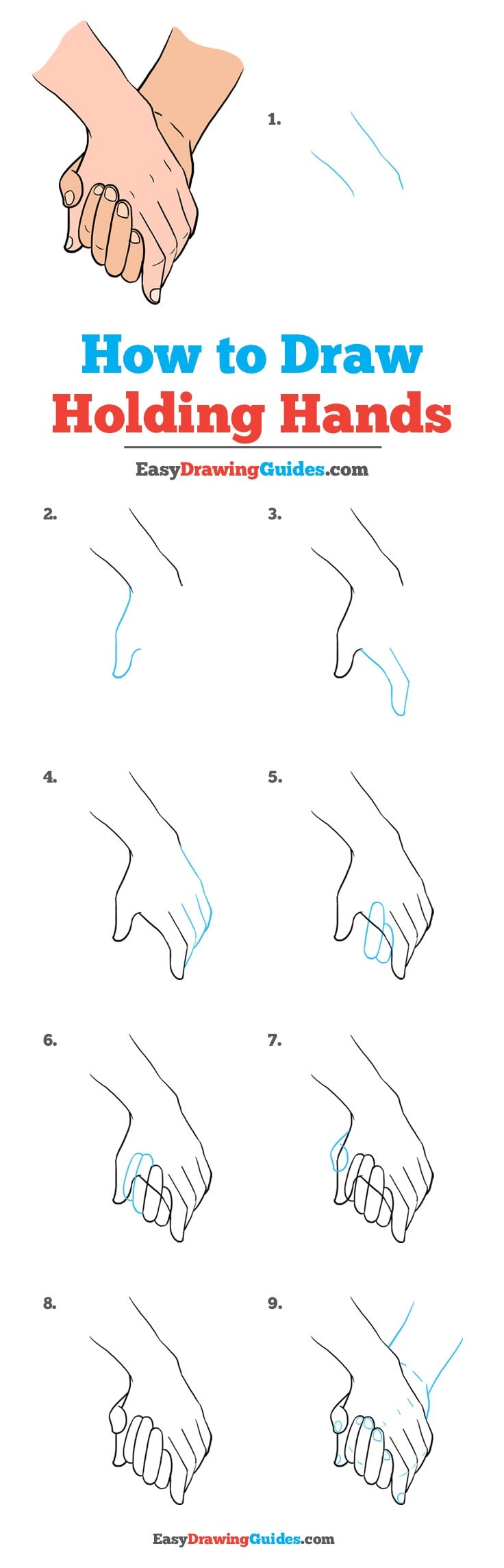 736x2288 How To Draw Holding Hands