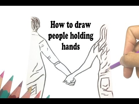 480x360 How To Draw People Holding Hands