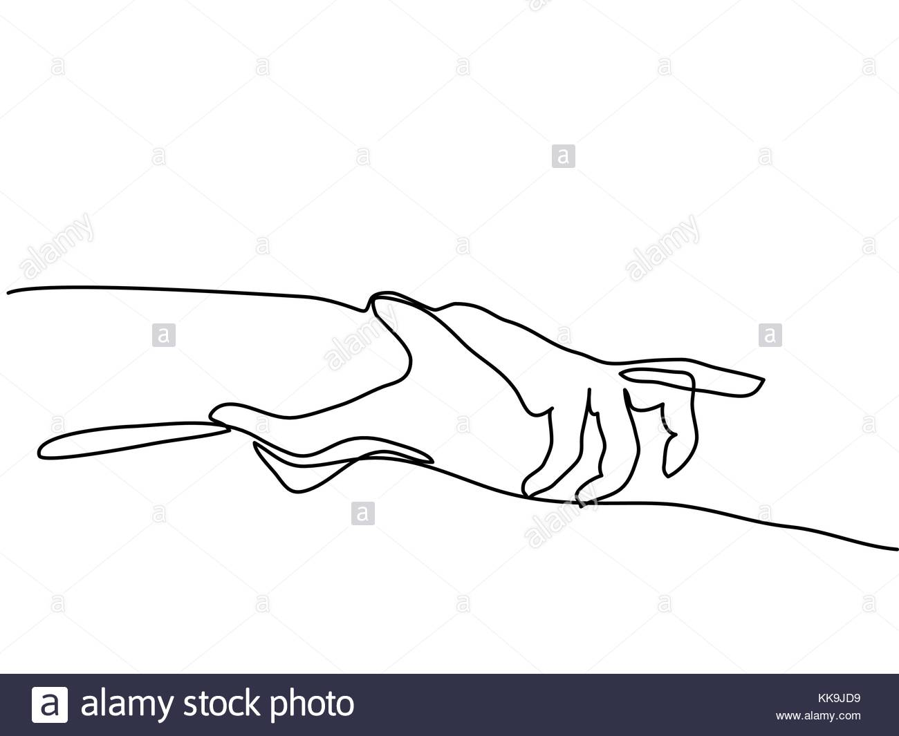 1300x1065 Continuous Line Drawing Of Holding Hands Together Stock Vector Art