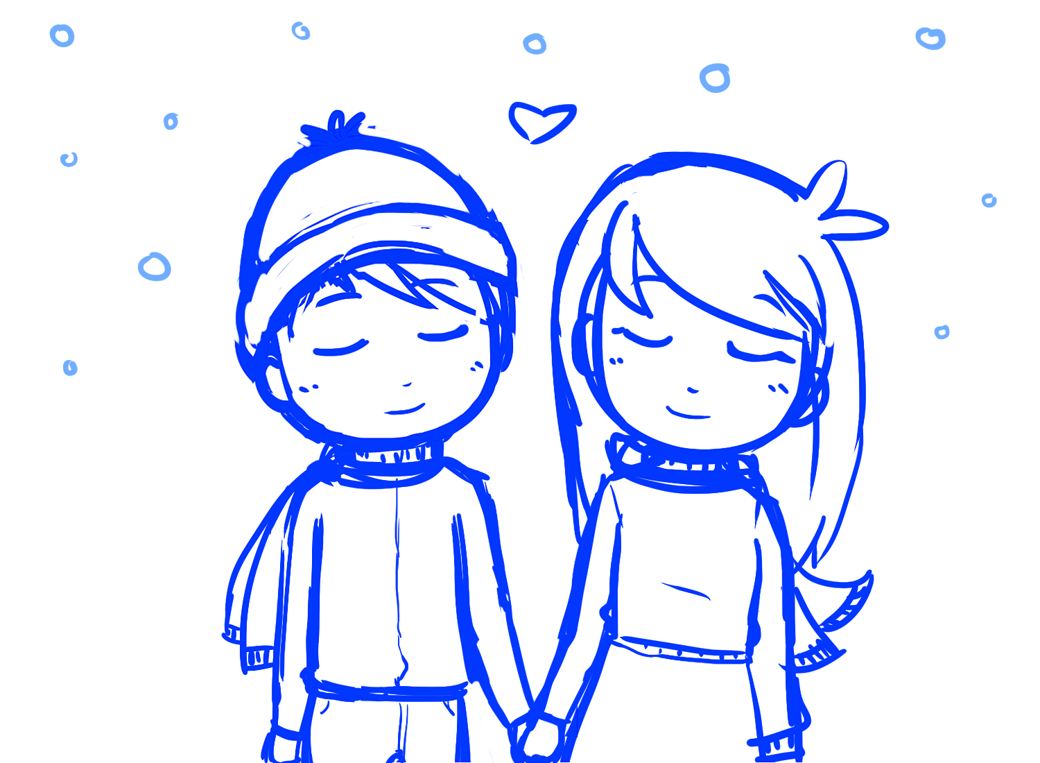 1500x1100 Cute Anime Couples Holding Hands Sketch Easy Drawings Of Couples