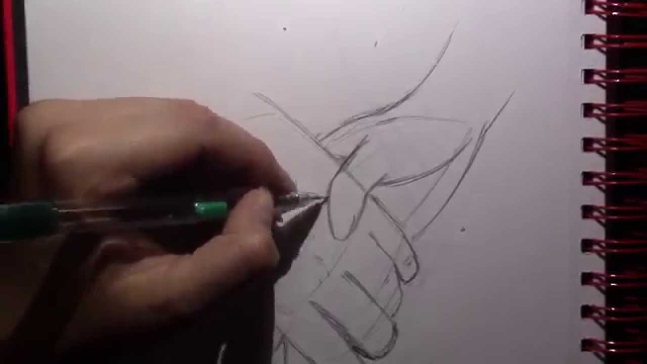 1280x720 How To Draw Holding Hands Two Different Ways (Valentines Day