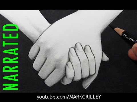 480x360 How To Draw People Holding Hands [Narrated Step By Step]