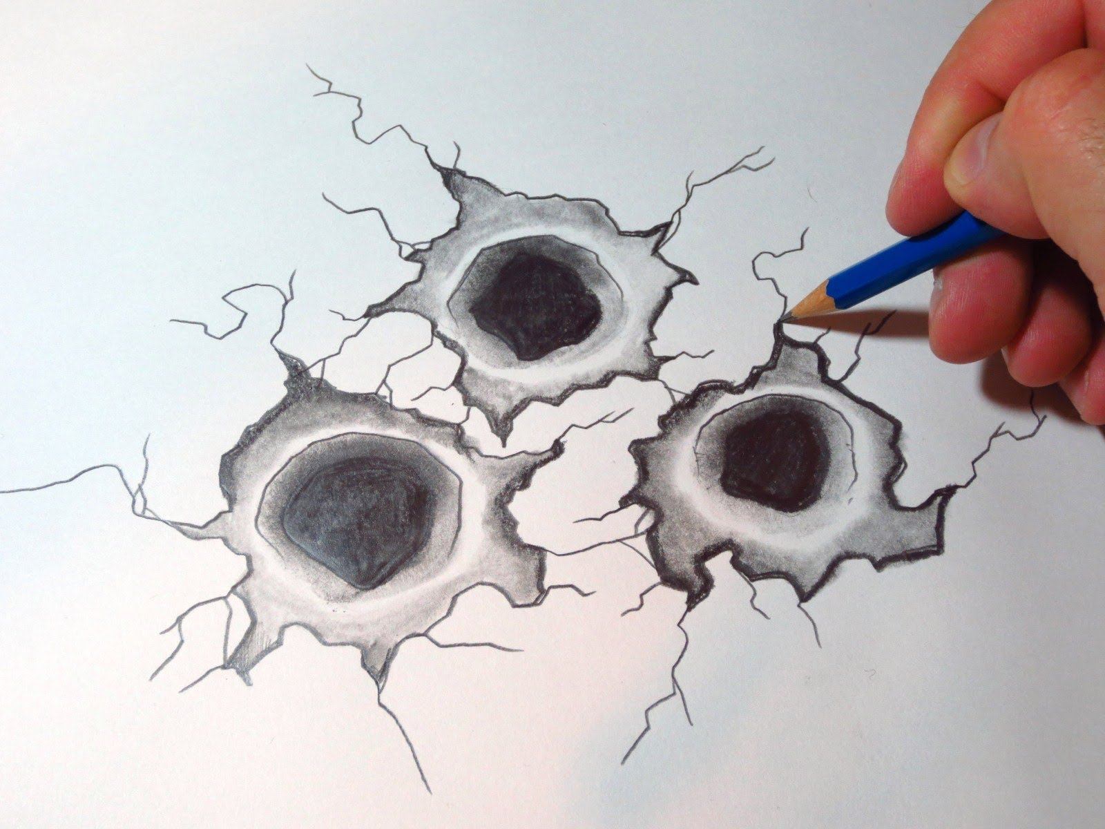 1600x1200 How To Draw Bullet Holes