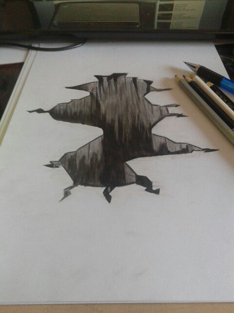 480x640 Pictures Pencil Art 3d Drawings Holes,