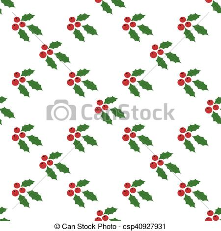 450x470 Seamless Background Holly Berries. Christmas Seamless Vectors