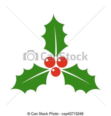 450x470 Christmas Holly Berry Icon Illustration Eps Vector