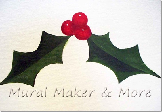 563x391 How To Paint (And Draw) Holly And Berries