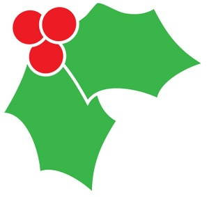 300x283 Free Holly Clipart Image