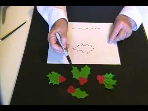 480x360 How To Draw Holly Leaves And Berries, Easy For Kids