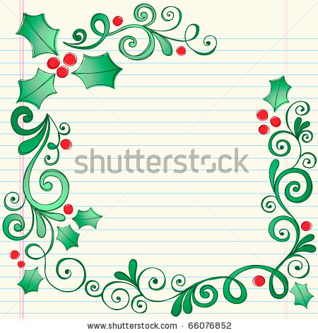 450x470 Stock Vector Hand Drawn Christmas Holly Leaves Sketchy Notebook