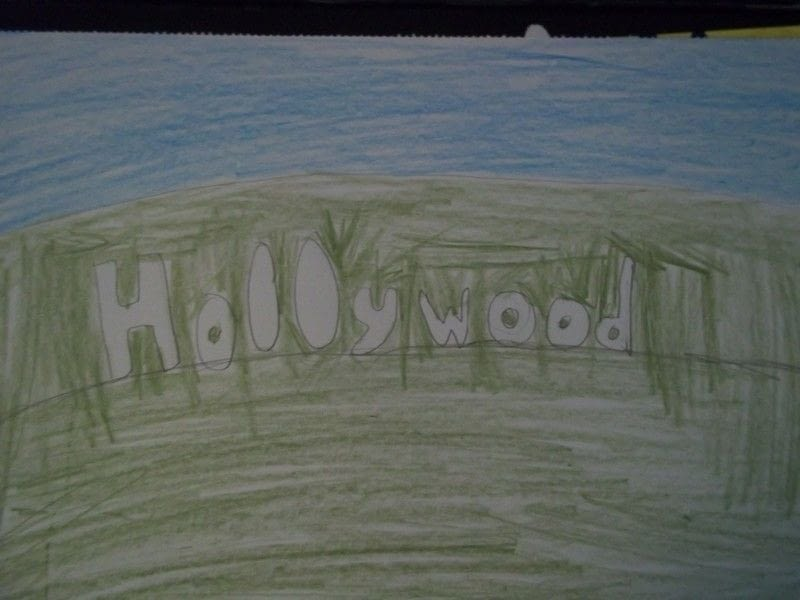 800x600 Hollywood Sign Drawing A Drawing Drawing On Cut Out + Keep