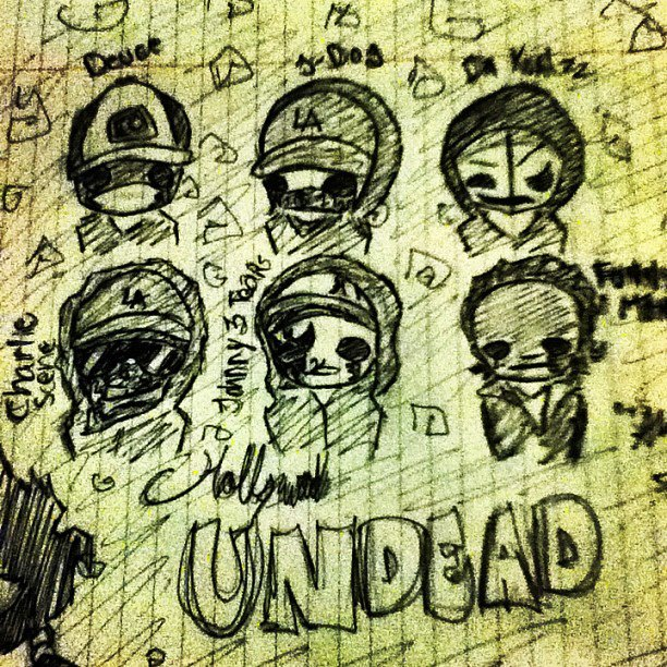 612x612 Hollywood Undead Drawing By Skullsforselena