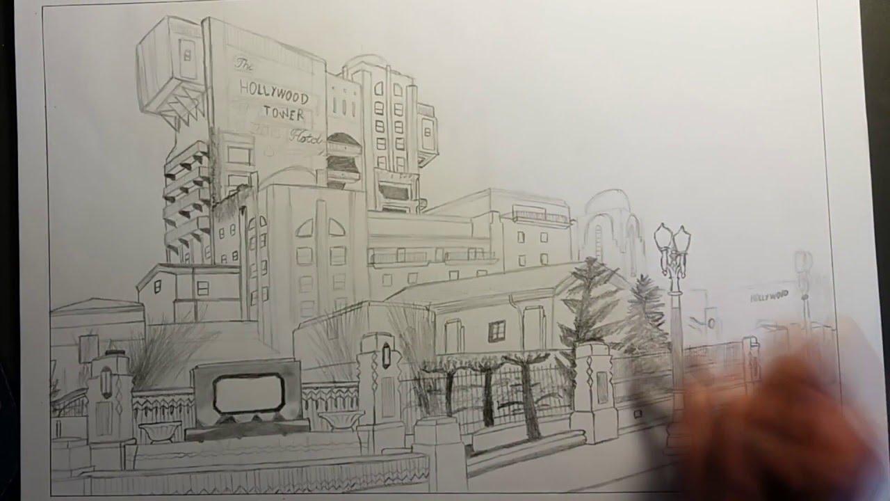 1280x720 Speed Drawing Tower Of Terror Disneyland Paris