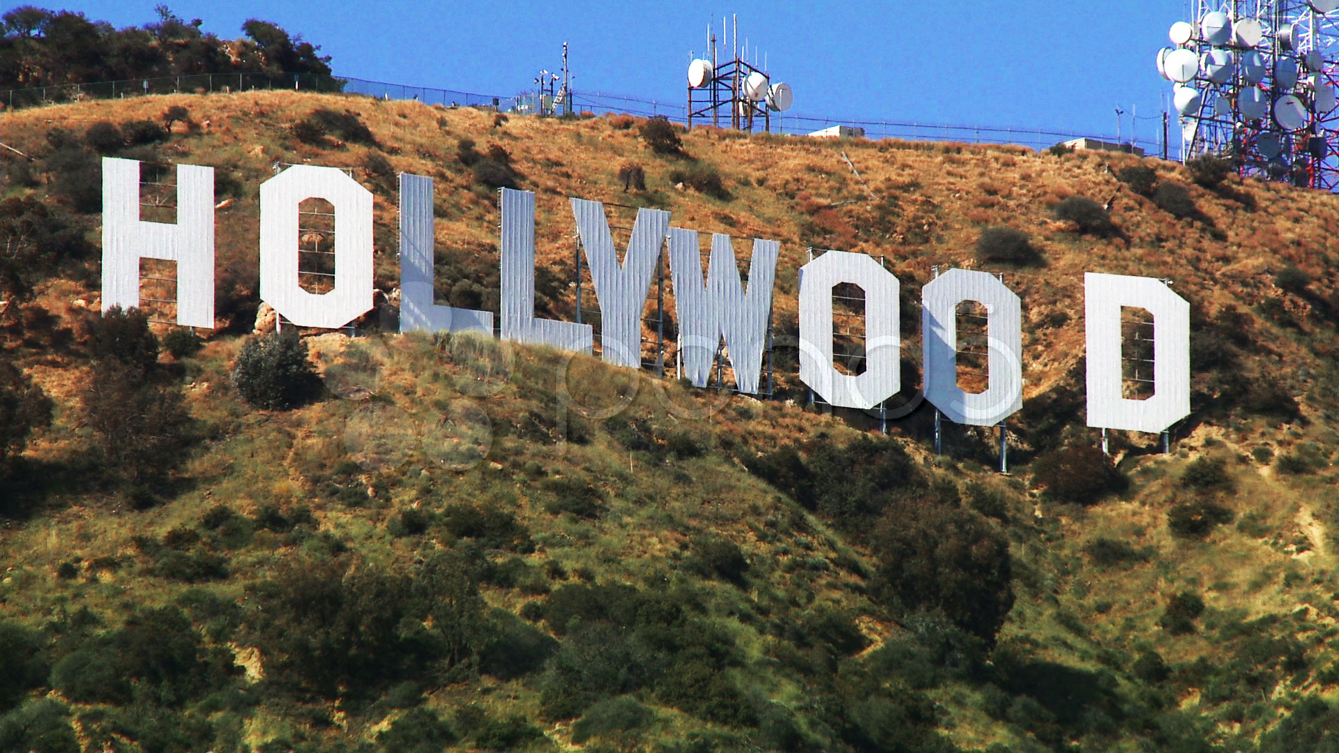 1920x1080 Hollywood Sign Close Up Hi Res Video