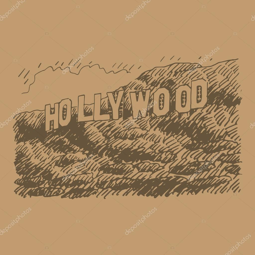 Hollywood Sign Drawing At Getdrawings Com Free For Personal Use Movie Director Coloring Page California Pages