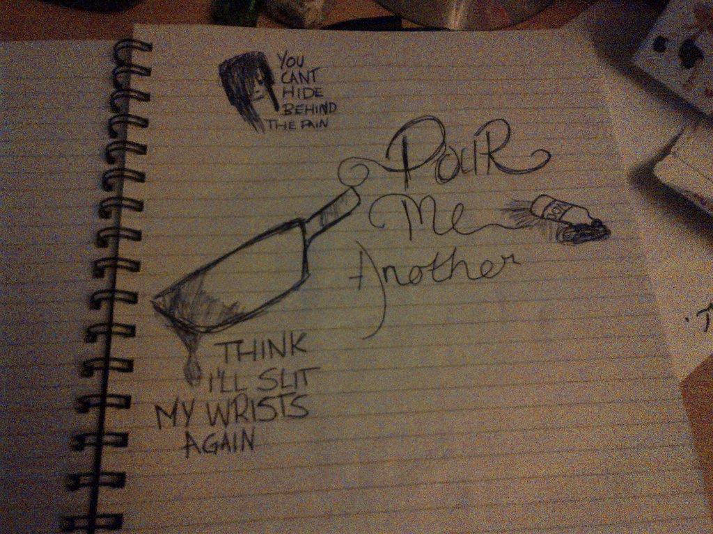 1024x768 Doodle Hollywood Undead Lyrics By Lchk4dinks