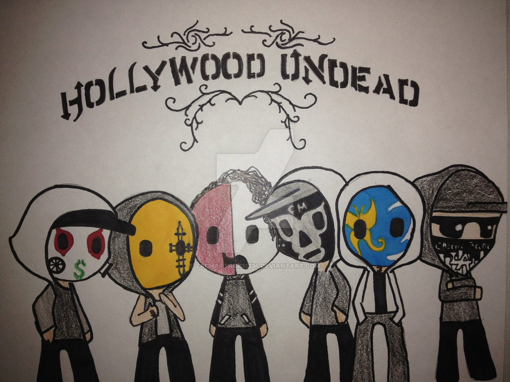 1024x768 Hollywood Undead By Zachattack11234