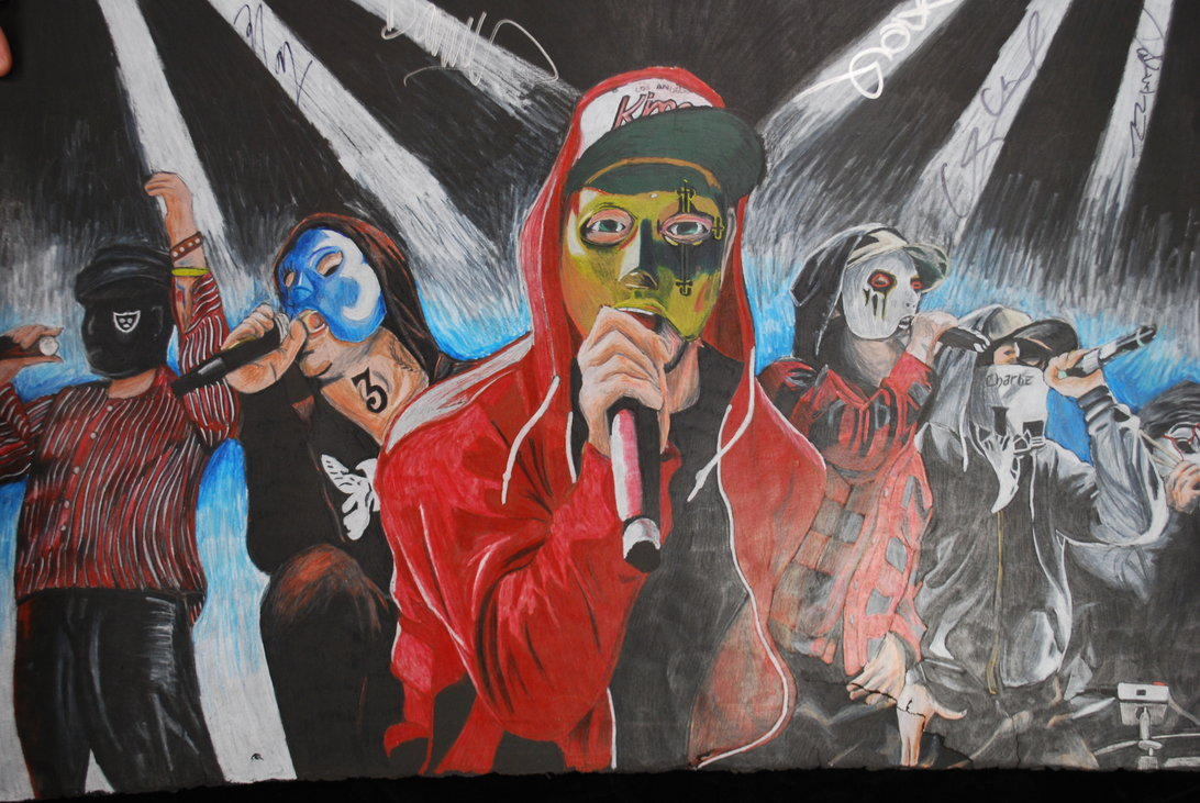 1092x731 Signed Hollywood Undead Drawing By Wyldfire7