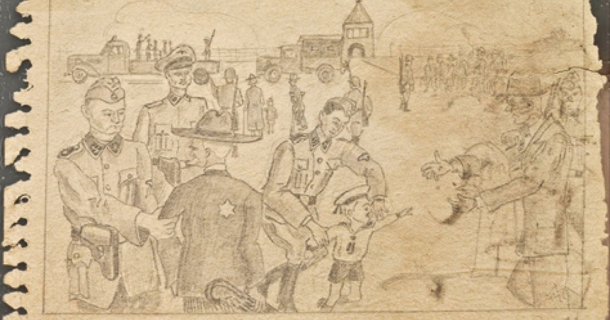 1200x630 Holocaust Drawings By Unknown Artists To Be Shown For First Time