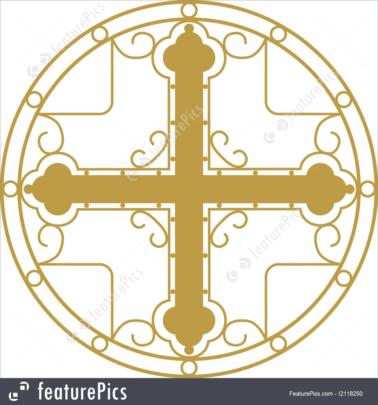 1300x1392 Vector Drawing Of Christian Holy Cross