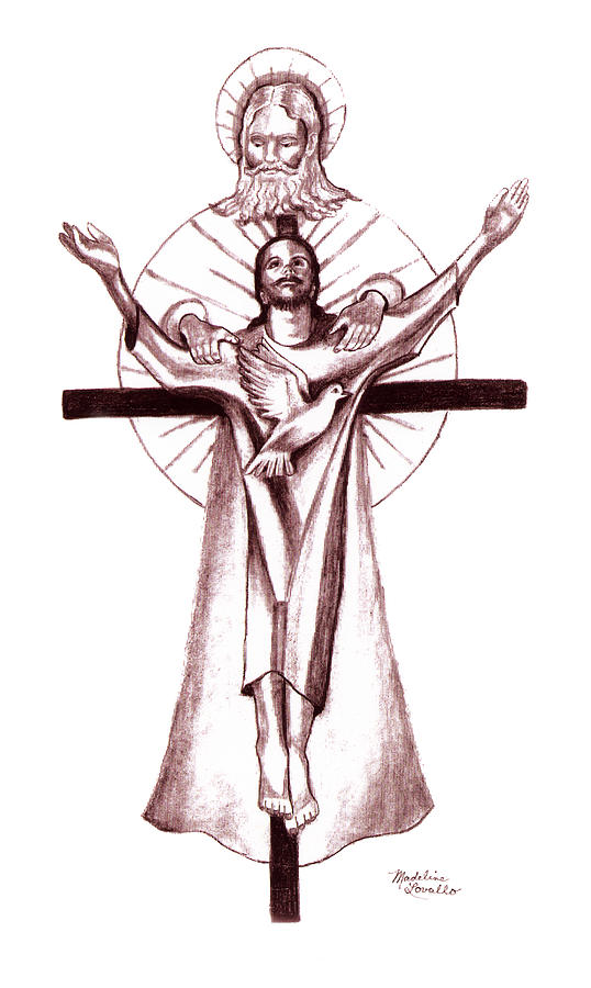 538x900 Holy Trinity Drawing Christian Art Holy Spirit