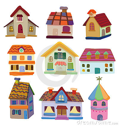 400x425 Cartoon House Icon Royalty Free Stock Photo