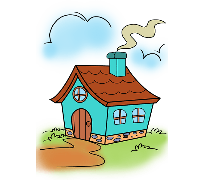 678x600 How To Draw A Cartoon House In A Few Easy Steps Cartoon House