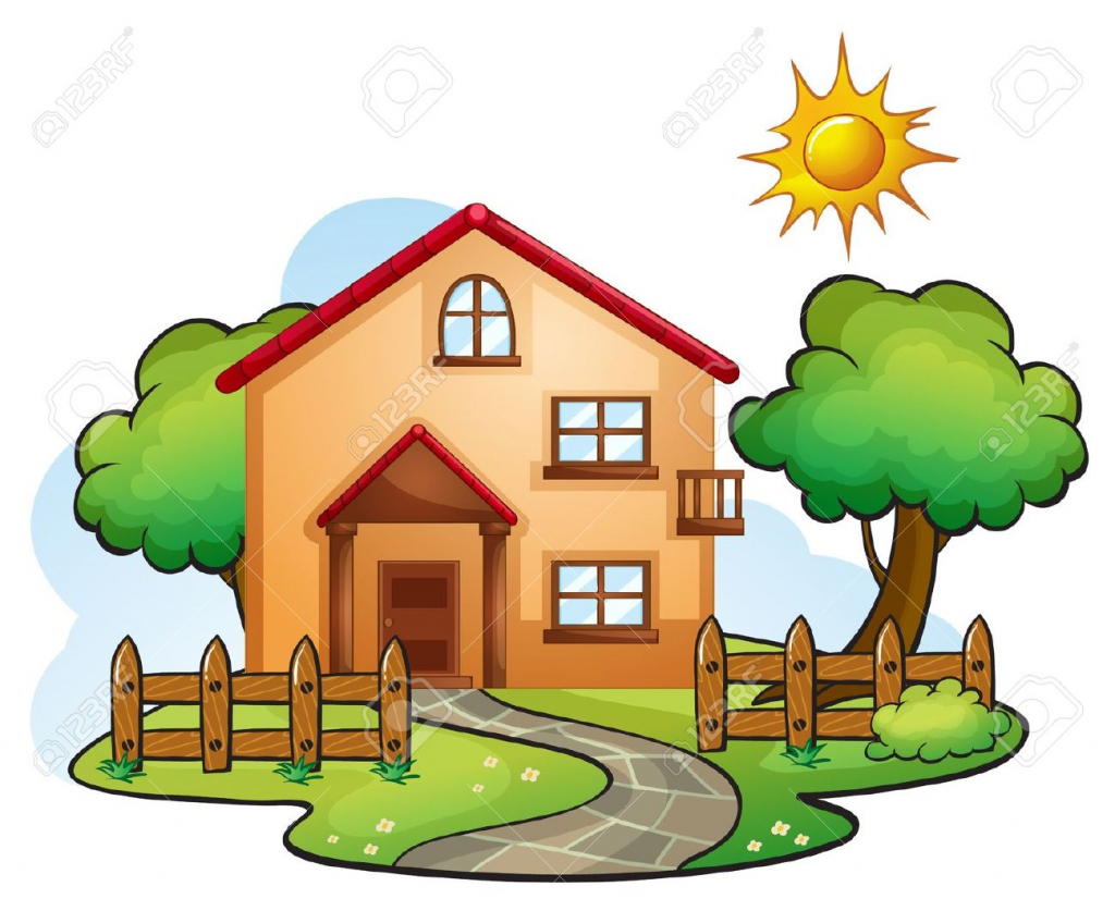 1024x837 Nature Drawing Cartoon Cartoon Nature Drawing Nature Home Clipart