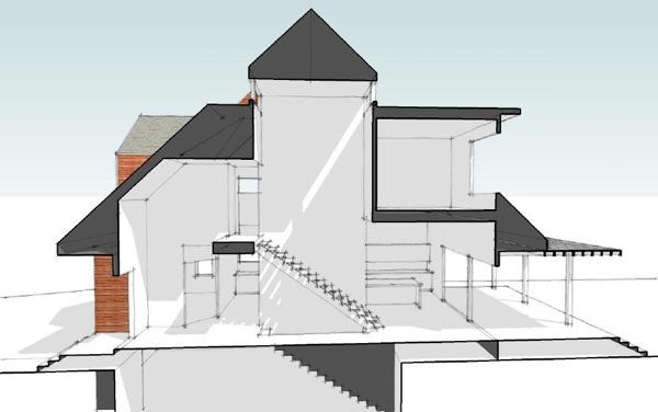 600x376 Modern House Plans By Gregory La Vardera Architect Motrad House