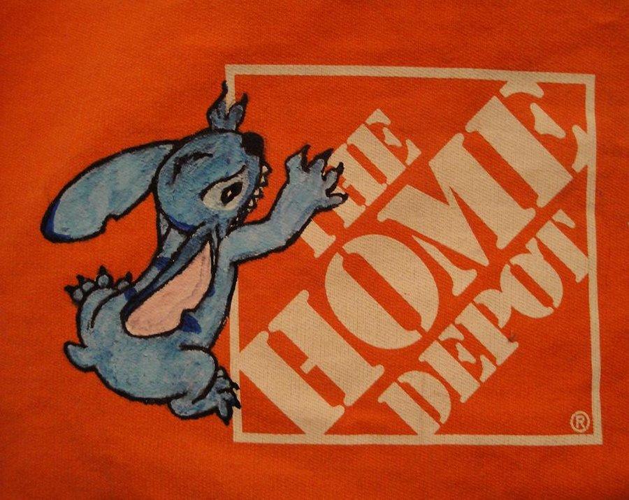 900x716 Stitch Eats Home Depot By Chibi Cheeks