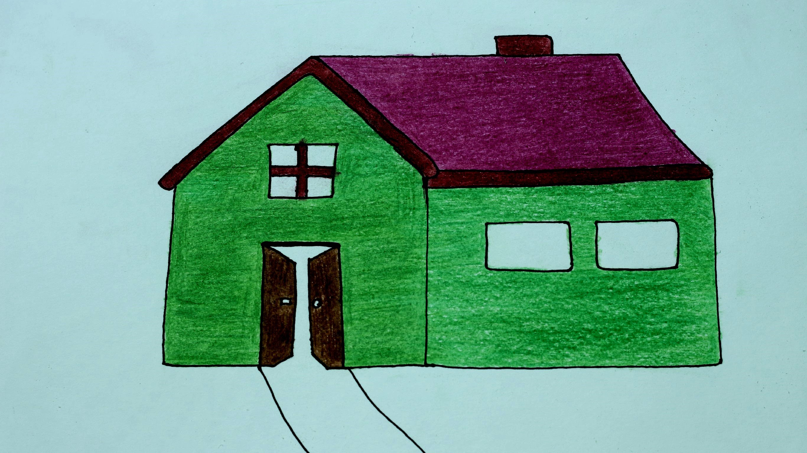2732x1534 How To Draw A Househome !! How To Make A House Drawing Cartoon