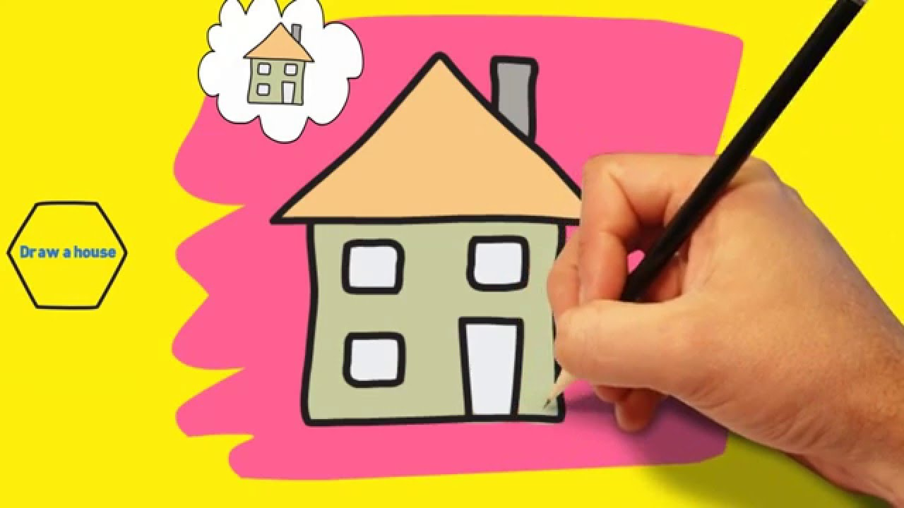 1280x720 How To Draw A House For Kids Easy