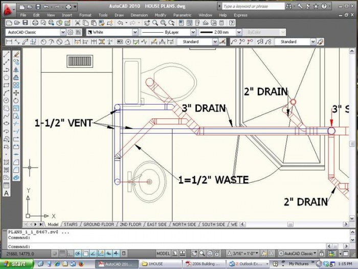 700x525 Good Example Of Cad Plumbing Drawing .2nd Story Addition Rough