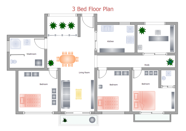 650x459 3 Bed Floor Plan Free 3 Bed Floor Plan Templates