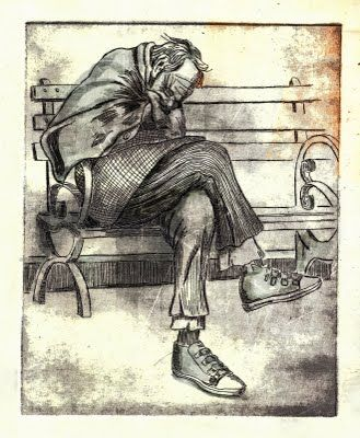 329x400 Drawing And Homeless People