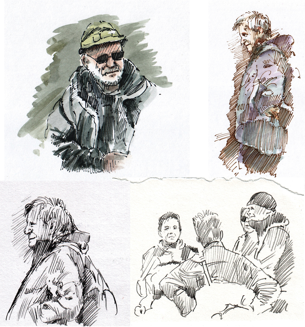 992x1061 Drawing Of Homeless Person