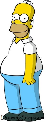 206x518 How To Draw Homer Simpson