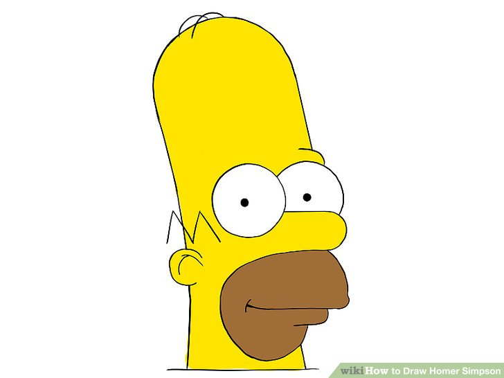 728x546 How To Draw Homer Simpson (With Pictures)
