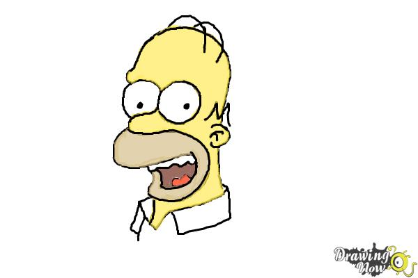 600x400 How To Draw Homer Simpson